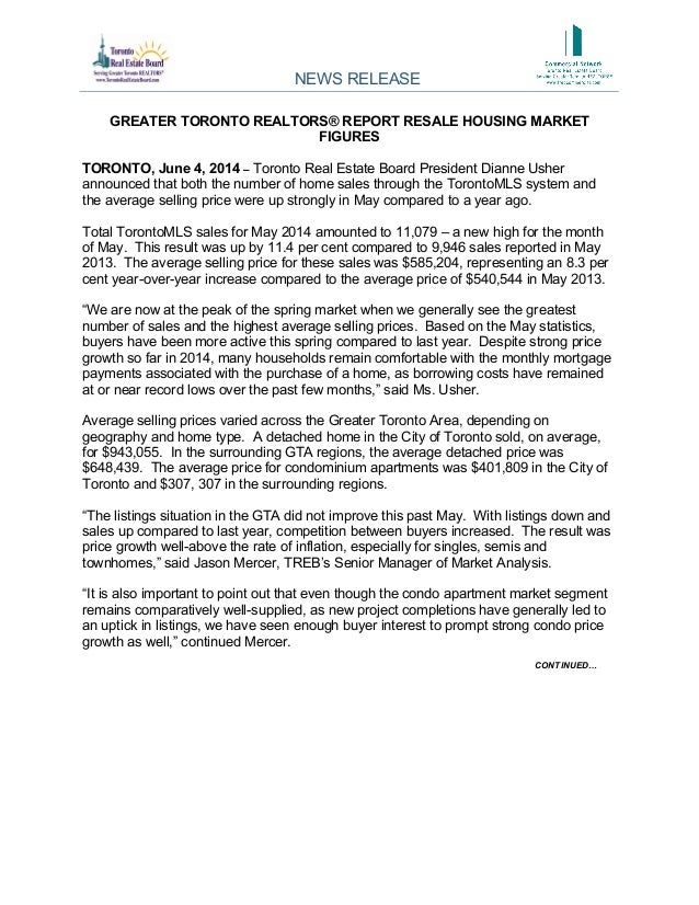 Market Report - Released today for May 2014