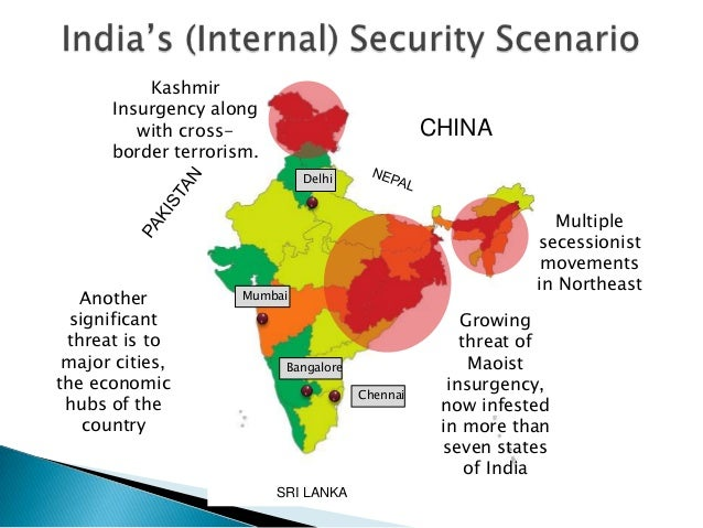 CHINA SRI LANKA Multiple secessionist movements in Northeast Growing threat of Maoist insurgency, now infested in more tha...