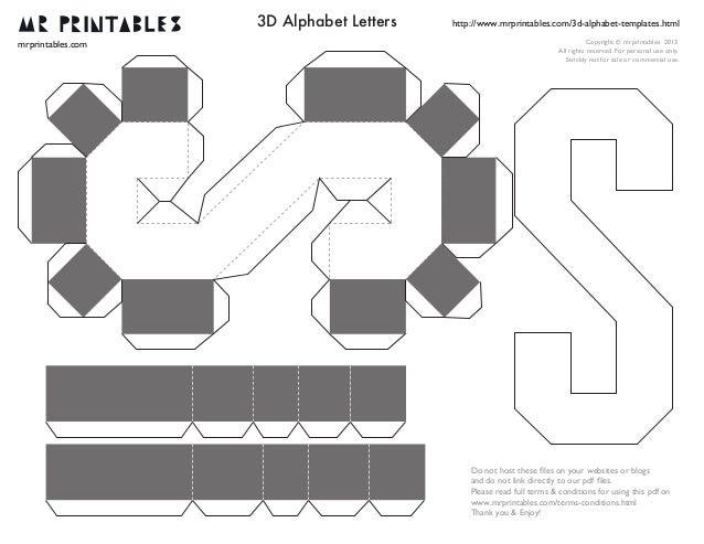 Объемные буквы из бумаги своими руками схемы шаблоны алфавит 93