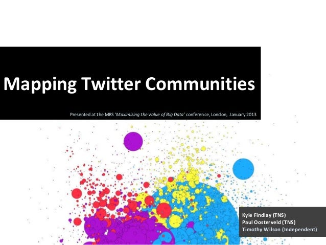 Mapping Twitter Communities       Presented at the MRS 'Maximizing the Value of Big Data' conference, London, January 2013...
