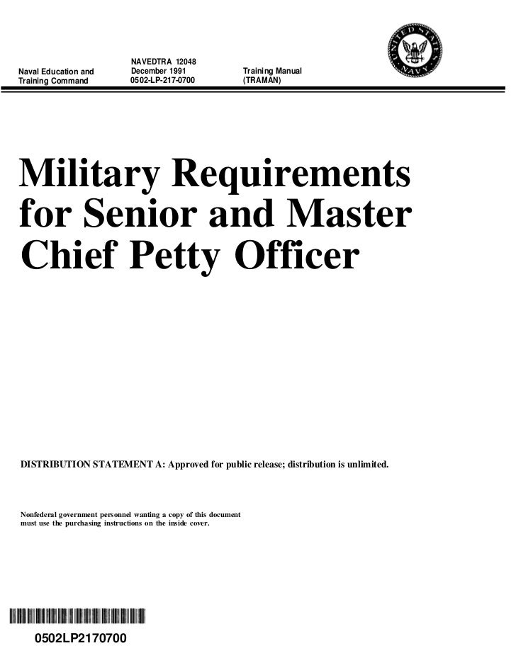 Relevance of ROC and POE to Senior Enlisted NAVEDTRA12048 pg 6-7