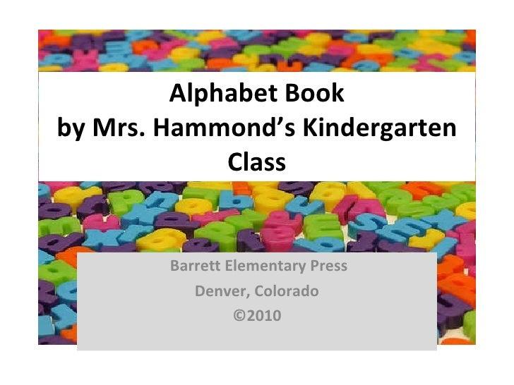 Kindergarten Alphabet Book