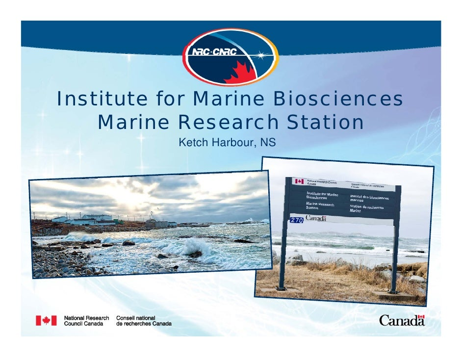 Institute for Marine Biosciences     Marine Research Station            Ketch Harbour, NS