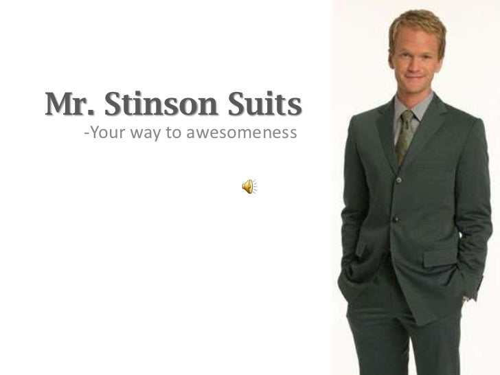 Mr Stinson Suits - Your way to awesomeness.