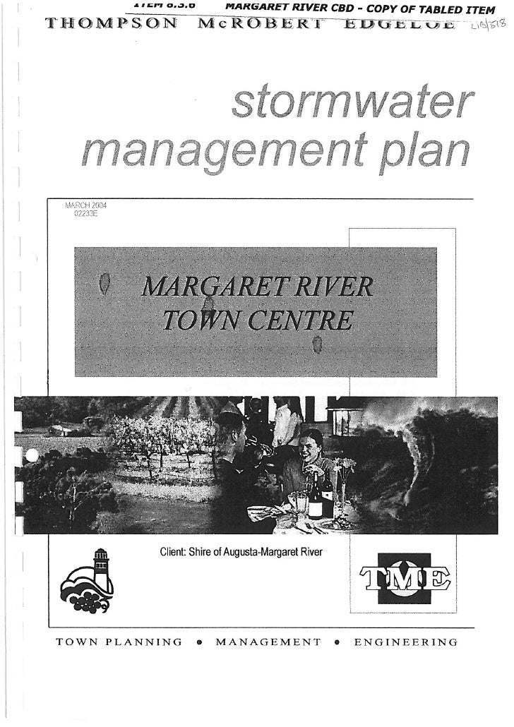 Margaret River Town Centre Stormwater Management Plan