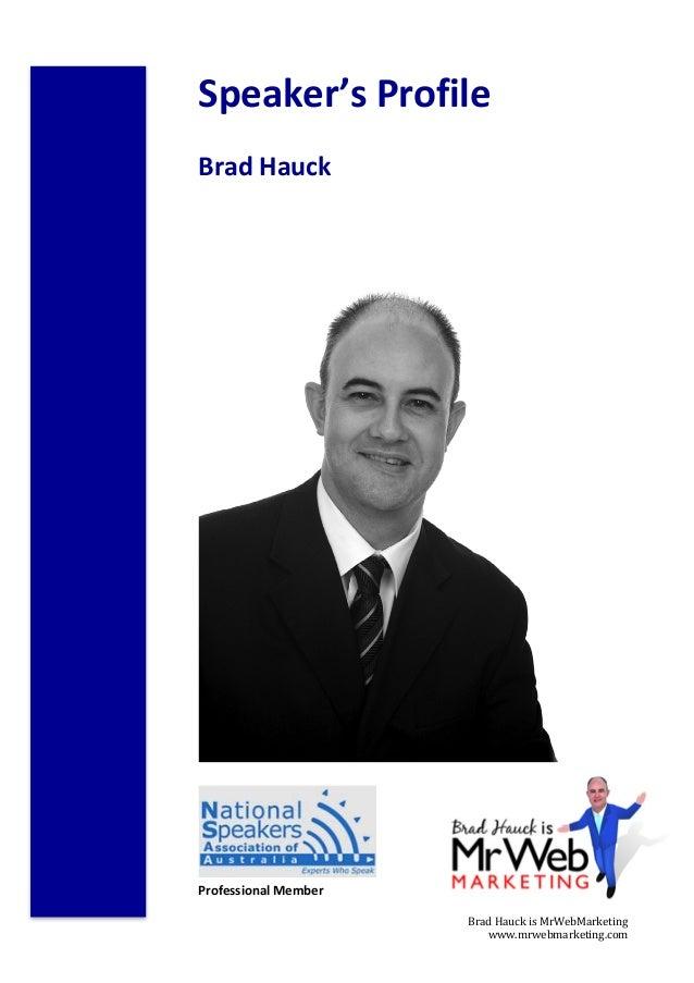 Brad Hauck Speakers Profle