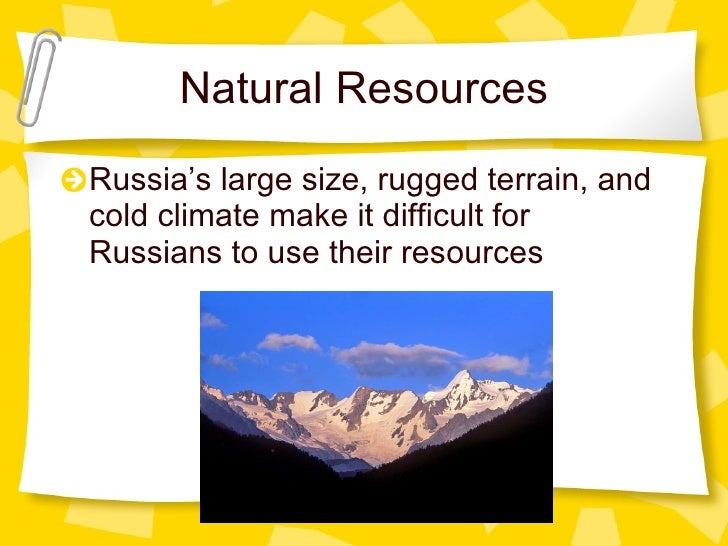 Why Is It Difficult To Use Russia S Natural Resources