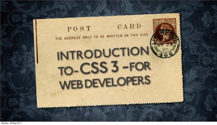 Microsoft TechDays - CSS3 Presentation