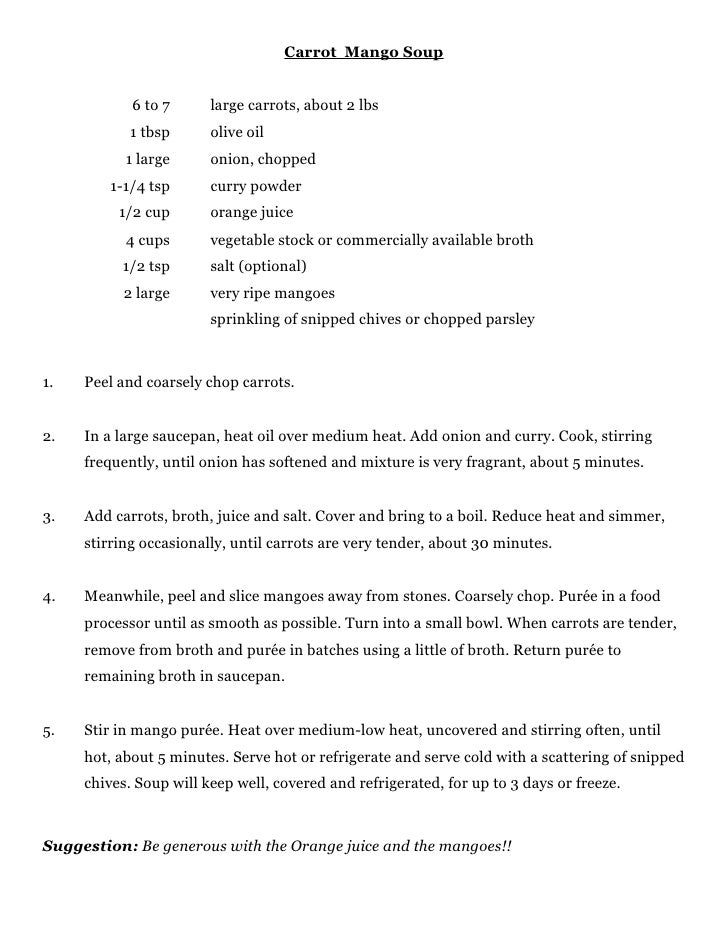Ms. wray's great soup recipes