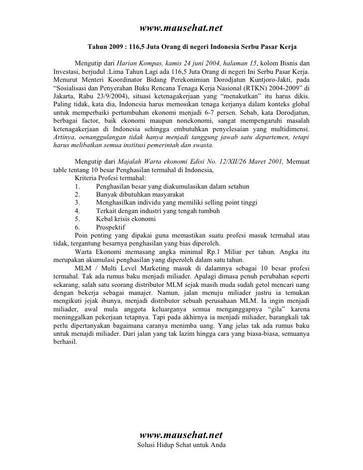 www.mausehat.net            Tahun 2009 : 116,5 Juta Orang di negeri Indonesia Serbu Pasar Kerja          Mengutip dari Har...
