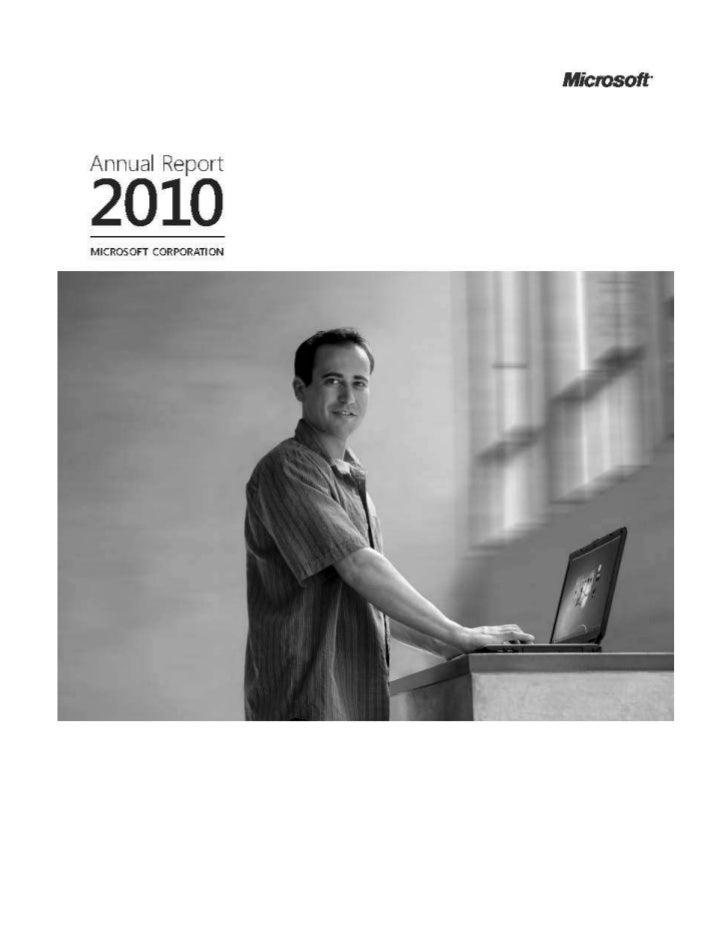 Microsoft Annual Report 2010