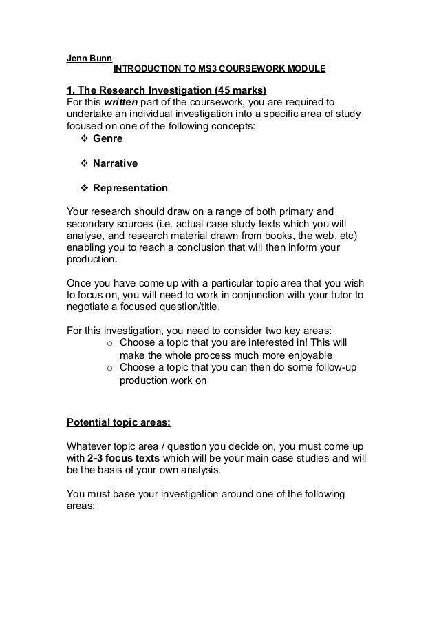 MS3 coursework proposal form