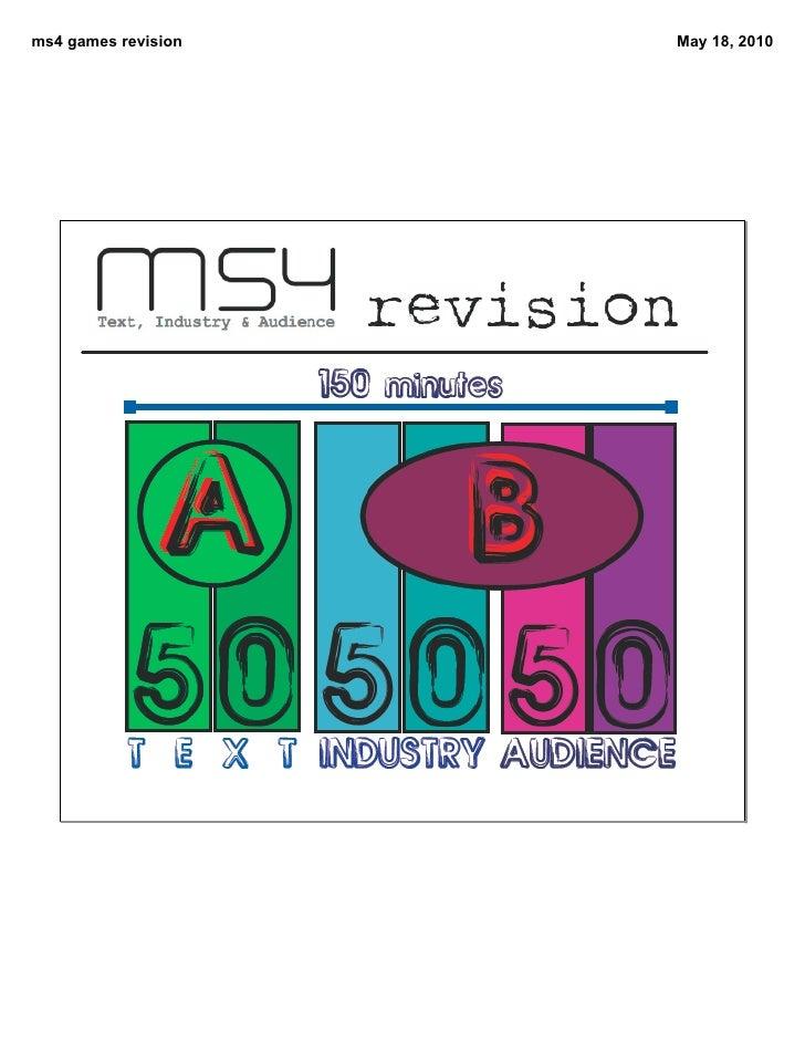 ms4 games revision   May 18, 2010