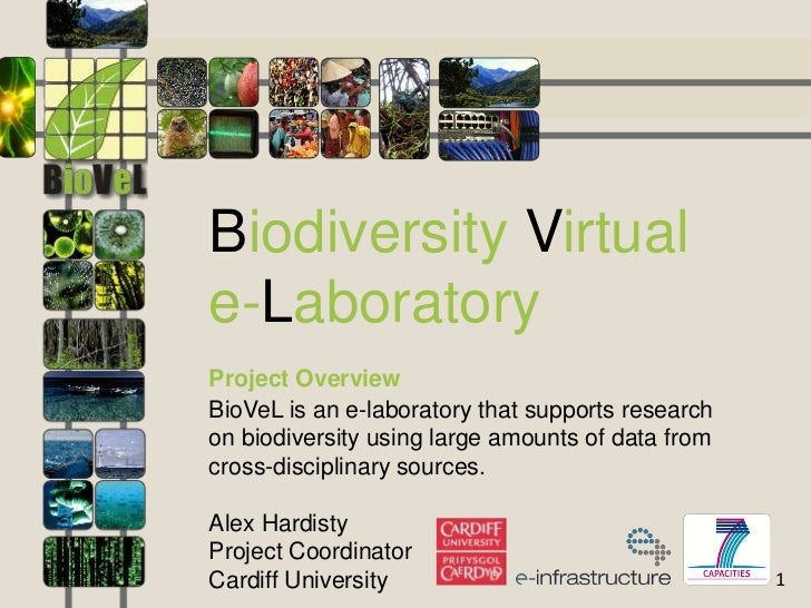 Biodiversity Virtuale-LaboratoryProject OverviewBioVeL is an e-laboratory that supports researchon biodiversity using larg...