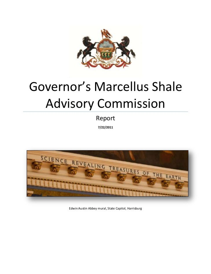 PA Marcellus Shale Advisory Commission Final Report