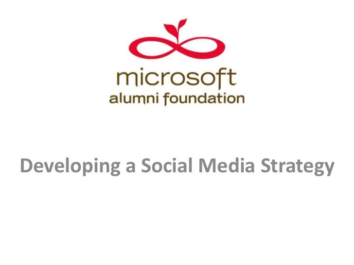 Developing a Social Media Strategy