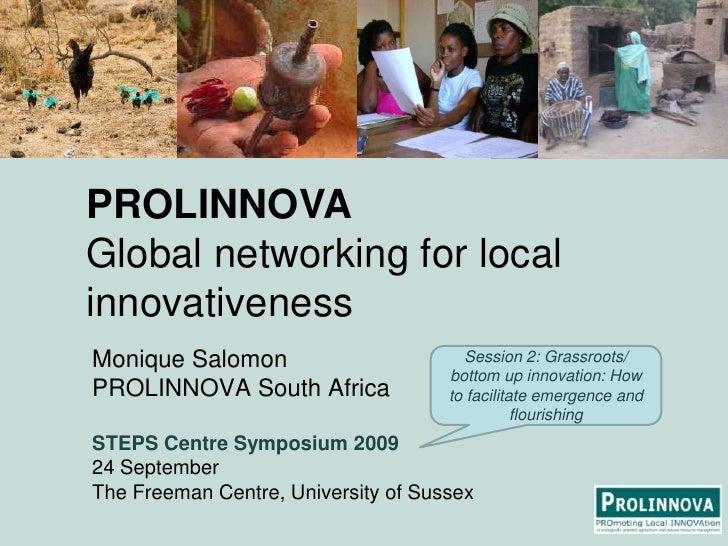 Manifesto: Monique Salomon - Prolinnova: global networking