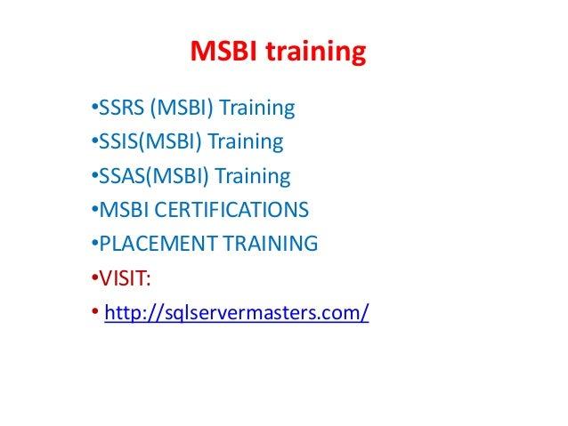 Msbi online training