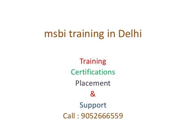 Msbi training in delhi