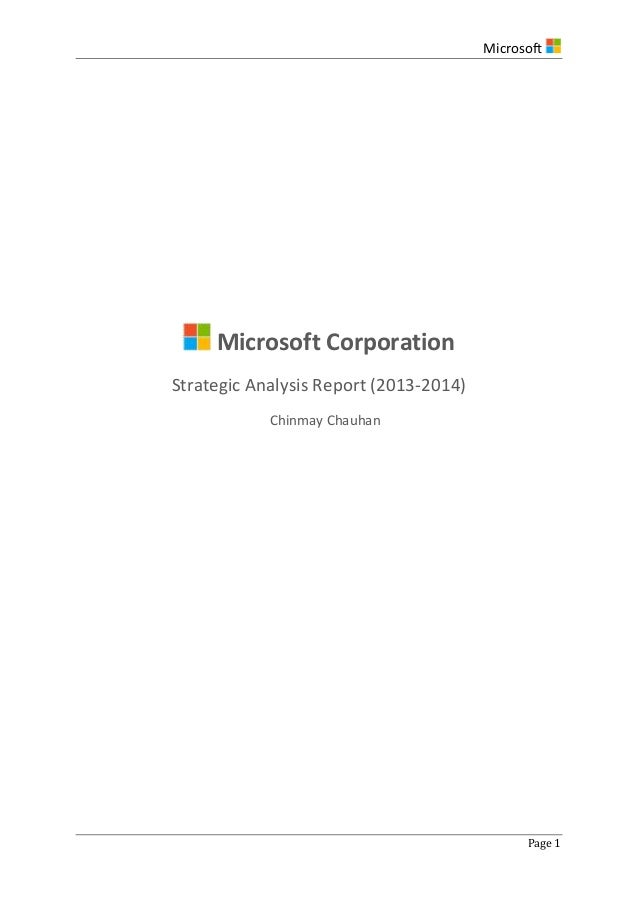 an analysis of the issues of microsoft corporation Founded in 1975, microsoft (nasdaq msft) is the worldwide leader in software, services, devices and solutions that help people and businesses realize their full potential.