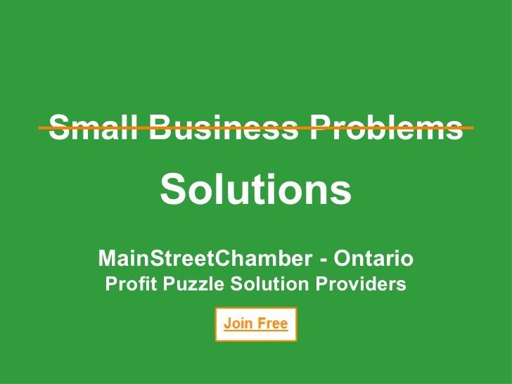 Solution Providers : MainStreetChamber - Ontario