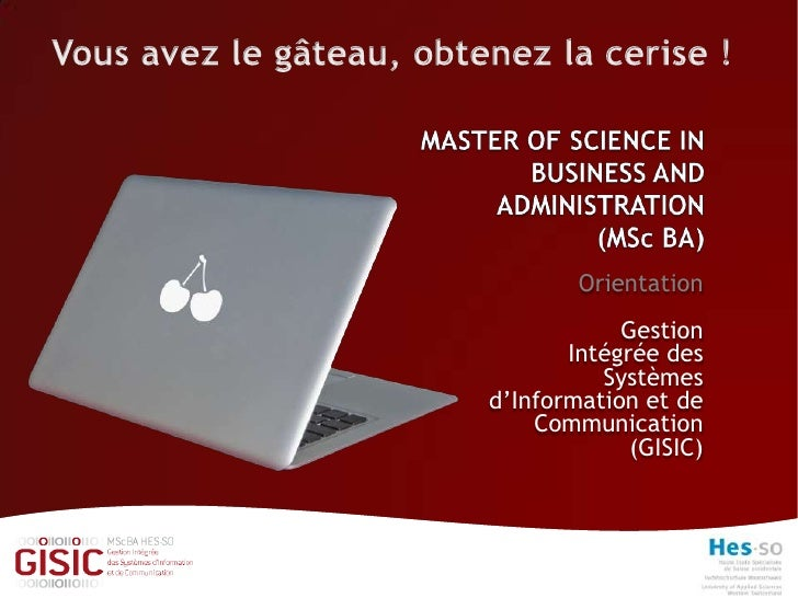 Master of Sciences in Business and Administration GISIC