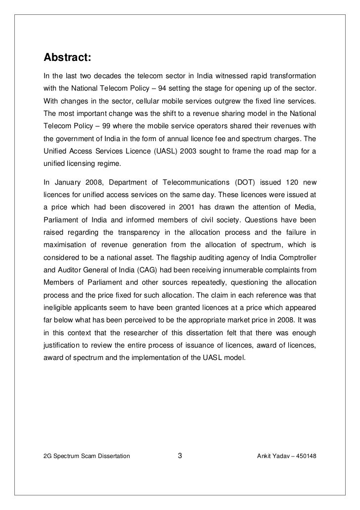 Dissertation abstract in business management