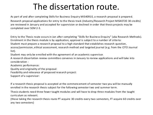 thesis dissertation proposal