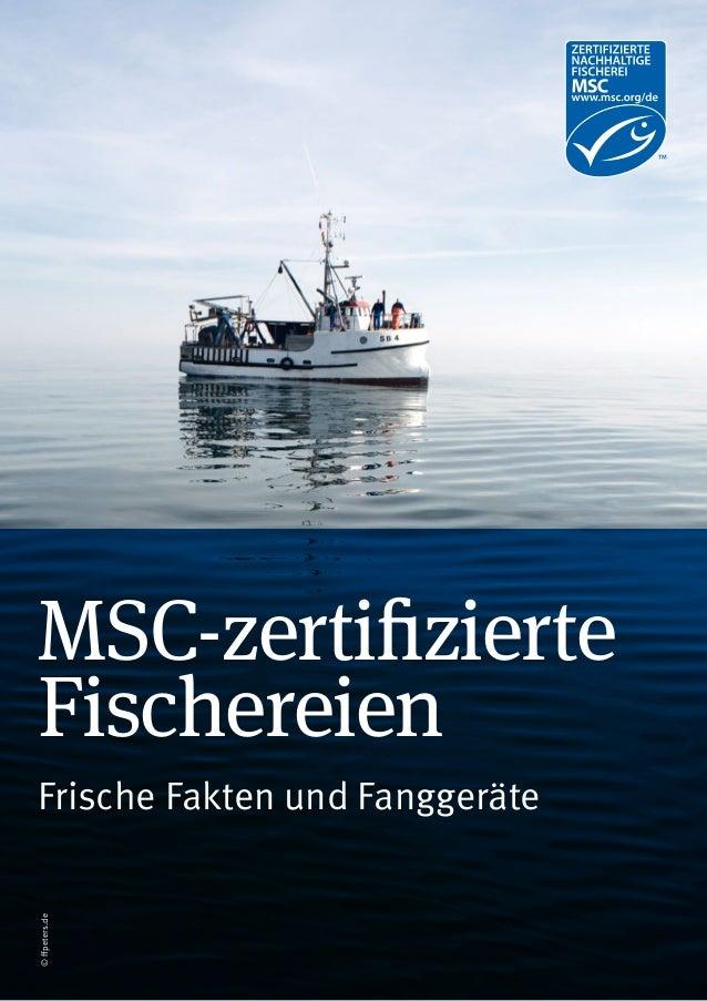 MSC-zertifizierte Fischereien Frische Fakten und Fanggeräte ©ffpeters.de
