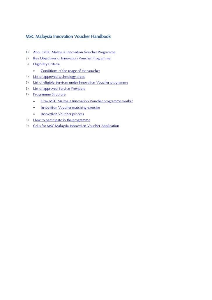 MSC Malaysia Innovation Voucher Handbook v1.4