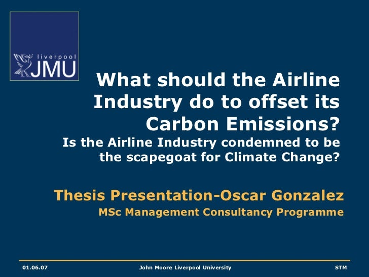 What should the Airline Industry do to offset its Carbon Emissions?