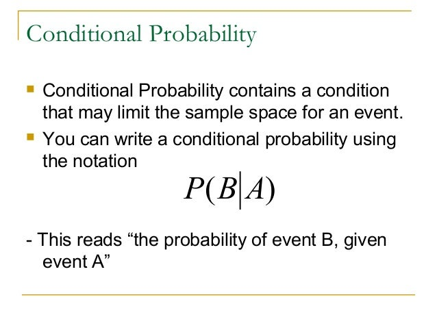 conditional probability Detailed tutorial on bayes' rules, conditional probability, chain rule to improve  your understanding of machine learning also try practice problems to test.