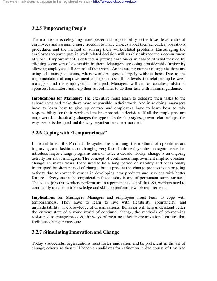 outline for organizational behavior Psychology course descriptions dr marya howell-carter, chairperson course outline psy 311 organizational behavior this upper-division course presents the concepts of organizational behavior and structure as well as topics relating to motivation content and process theories.