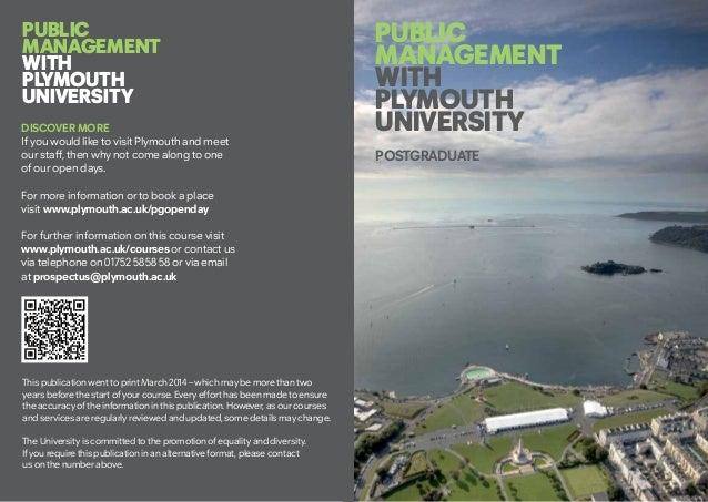Msc Public Management
