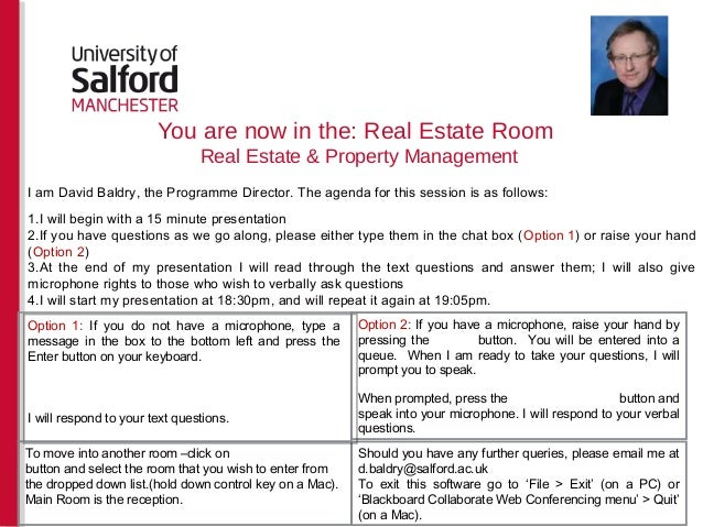 You are now in the: Real Estate RoomReal Estate & Property ManagementOption 2: If you have a microphone, raise your hand b...