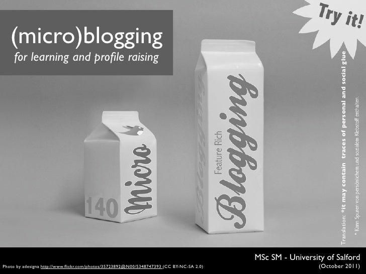 Micro(blogging)