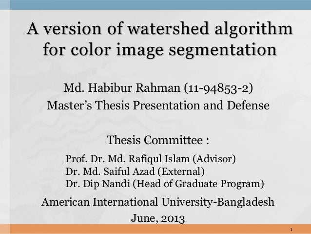 A version of watershed algorithm for color image segmentation