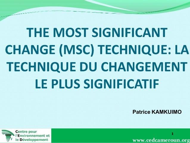 Patrice KAMKUIMO  1 www.cedcameroun.org