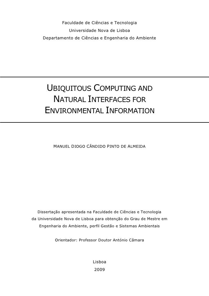 Ubiquitous Computing and Natural Interfaces for Environmental Information