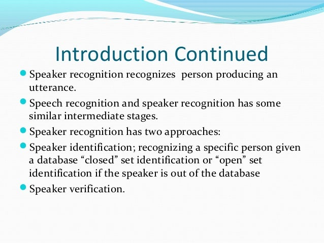 thesis in speech recognition Application of the neural ring pattern classifier to speech recognition by larry d pyeatt, bs a thesis in computer science submitted to the graduate faculty.
