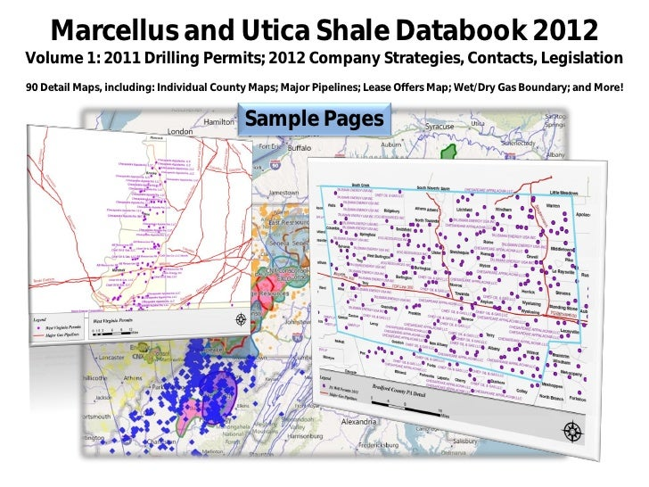 Marcellus and Utica Shale Databook 2012Volume 1: 2011 Drilling Permits; 2012 Company Strategies, Contacts, Legislation90 D...