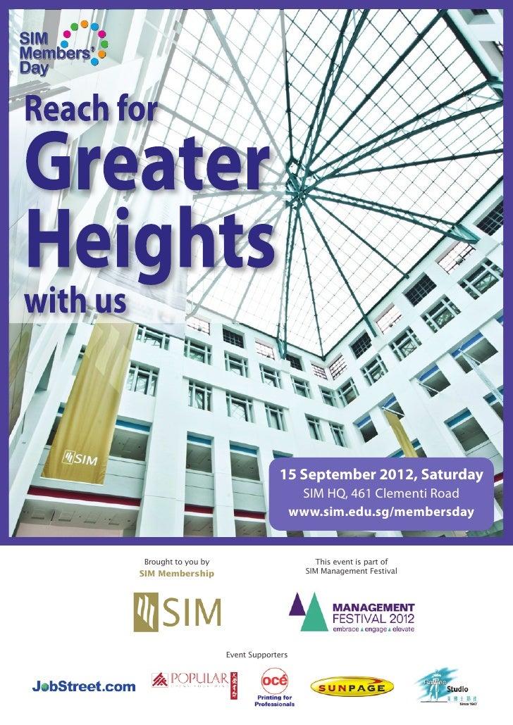 15 September 2012, Saturday                                        SIM HQ, 461 Clementi Road                              ...