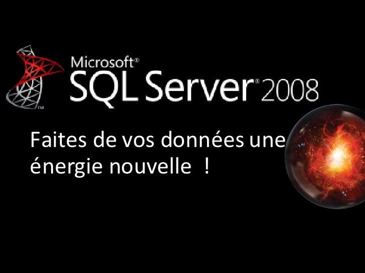 2008-10-02 Paris - Administration des applications critiques avec SQL Server 2008