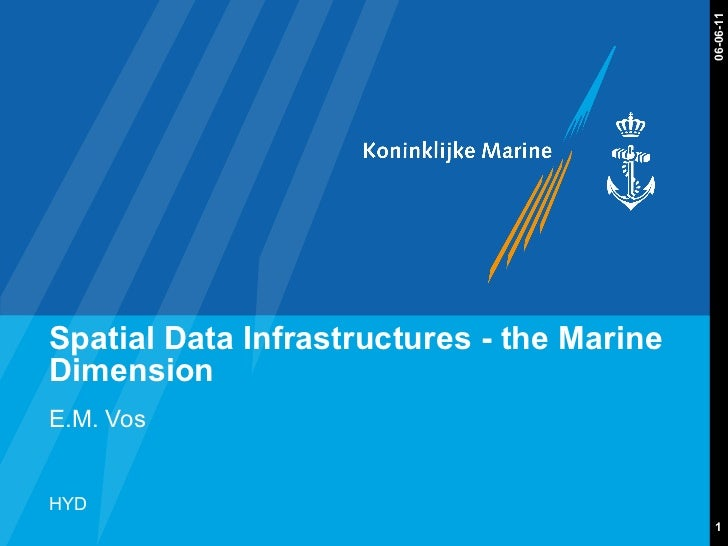 Spatial Data Infrastructures - the Marine Dimension E.M. Vos 06-06-11