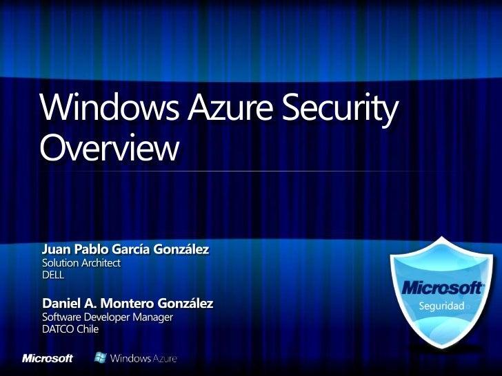 Introduccion a la seguridad en Windows Azure
