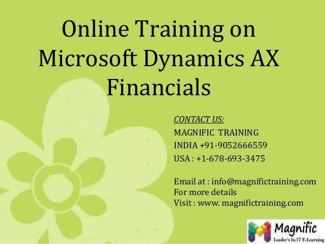 Msdynamics ax financials online training
