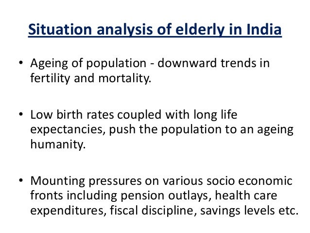 ageing population problems essay As the population grows older the impact of population aging and delayed retirement on workforce productivity.