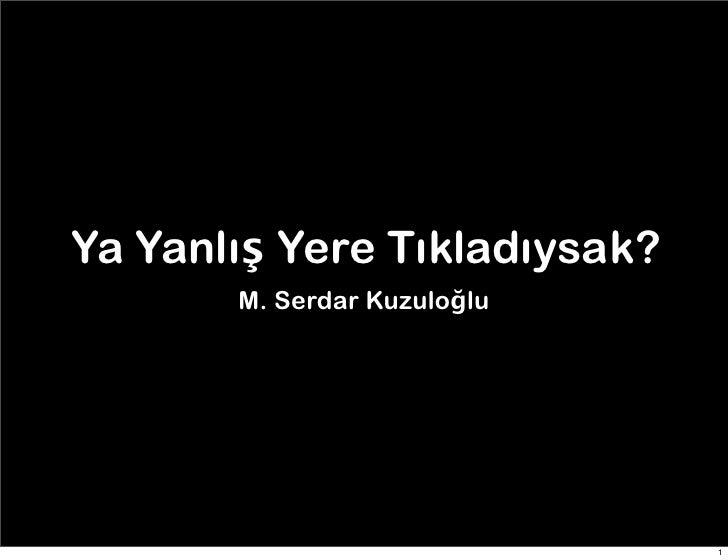 TEDxReset 2011 - M. Serdar Kuzuloğlu