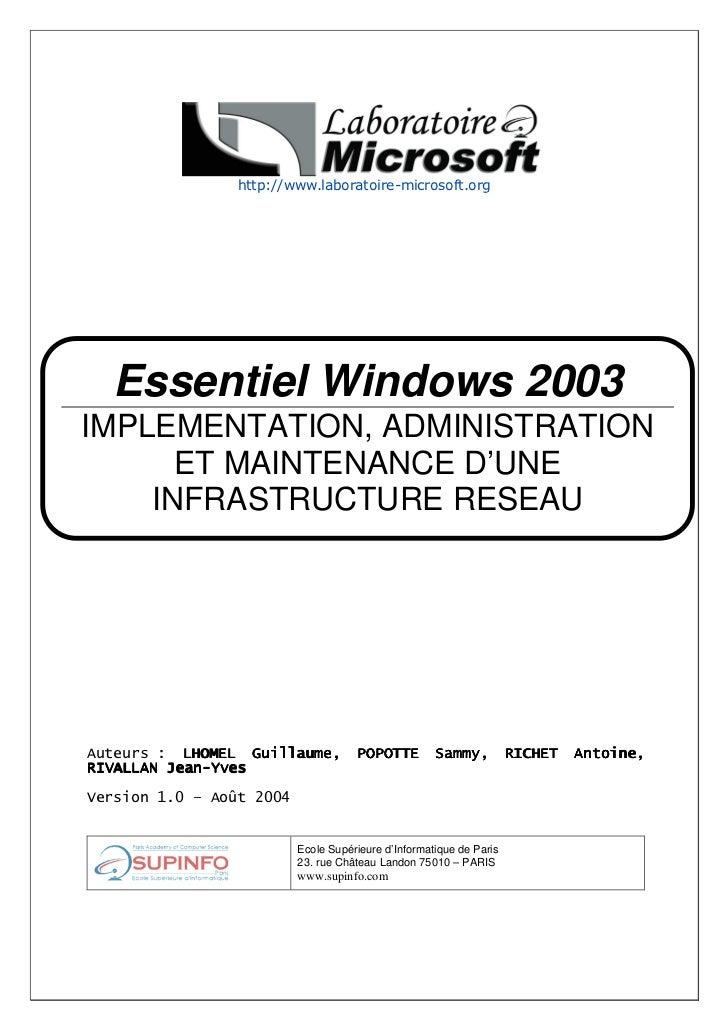 Ms es 70-291_1.0_fr