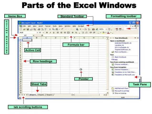 Microsoft Excel 2007 Functions And Parts Anatomy Of